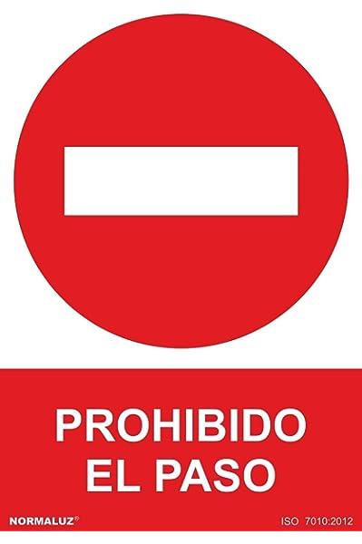 Normaluz RD40017 - Señal Homologada Prohibido El Paso PVC ...