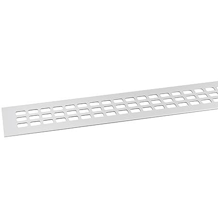 Alu SECOTEC L/üftungsgitter 60 x 600 mm 1 St/ück Titan//Edelstahl Effekt Oberfl/äche