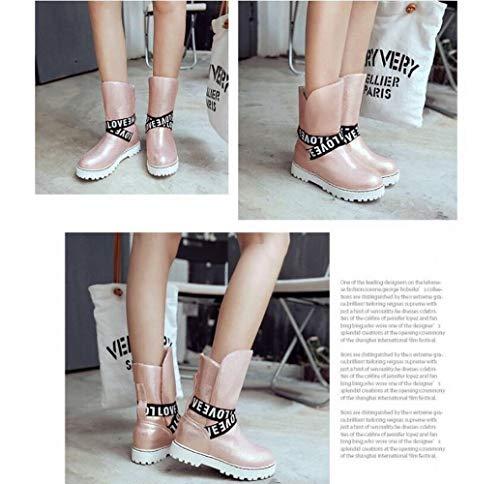 35 Mujeres Para Botas De Y Mujeres 42 Cortas Mujeres Zapatos Invierno Xdx Terciopelo Casual Aumento Rosado Estudiantes wx1qEfF6F