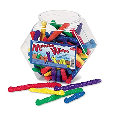 Learning Resources Measuring Worms, 72 Assorted Color Worms, Early Math Skills, Ages 5+: Toys & Games