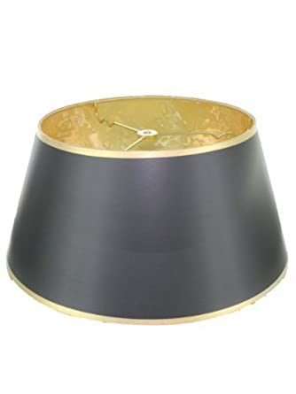 Upgradelights 14 black with gold bouillotte lamp shade in a upgradelights 14quot black with gold bouillotte lamp shade in a glossy black parchment aloadofball Choice Image