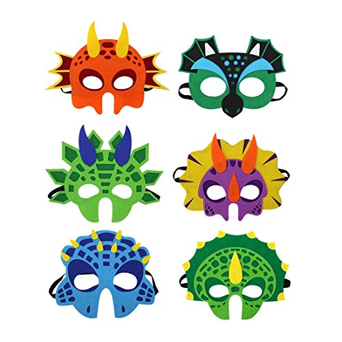 HBOS Costume Mask Kids Cute Funny Dinosaur Cosplay Accessories]()