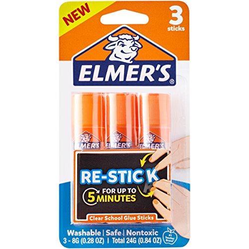 Stick Elmers Glue (Elmer's Re-Stick School Glue Sticks, 0.28-Ounces, 3 Count)