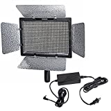 Yongnuo YN-600 5500K LED video light 4 Camcorder with Power AC Adapter Kit