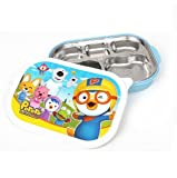 Pororo Portable Stainless Steel Divided Food