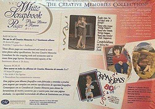 Creative Memories 5x7 White Scrapbook Pages (Creative X Album 7 7 Memories)