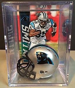 Carolina Panthers NFL Helmet Shadowbox w/ Steve Smith card