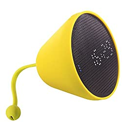 Stylepie Portable Night Light with Digital Alarm Clock,USB Charging Table Lamp,12/24 Hours Clock with Time/Date/Temperature /Humidity -Yellow