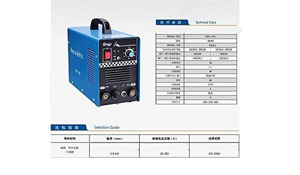GOWE 220 V dc Inverter argon para soldadura por arco eléctrico/manual soldadura y soldador: Amazon.es: Bricolaje y herramientas