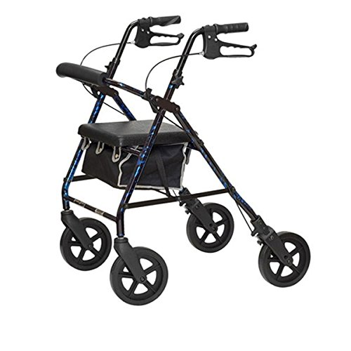 Invacare ProBasics Deluxe Aluminum Rollator - Flame Blue by Maxi-Aids