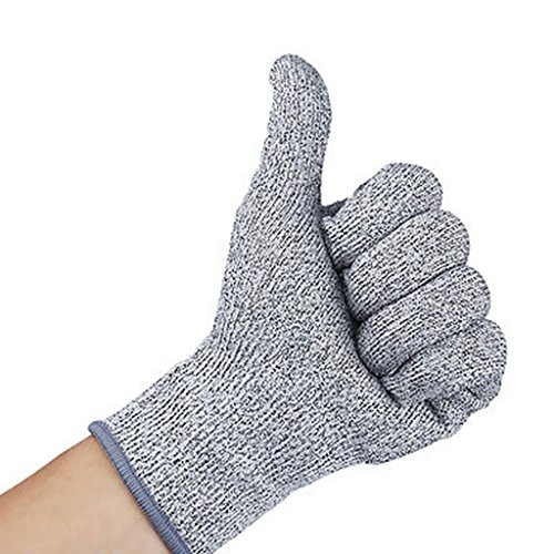 Prettyia 2 Pairs S+M Level-5 Safety Knife Cut Proof Stab Resistant HPPE Mesh Butcher Gloves