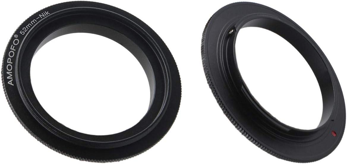 D5500,D750,D810,D5300,D3300,Df 52mm Filter Thread Macro Reverse Mount Adapter Ring D610 DSLR Cameras for Nikon D7500 D7100 D7000 D5600 D5200 D500 D90 D810A,D7200