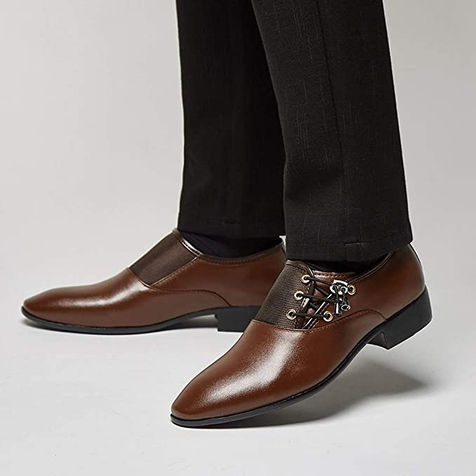 Amazon.com: Zapatos Oxford de piel para hombre, tallas 5.5 ...