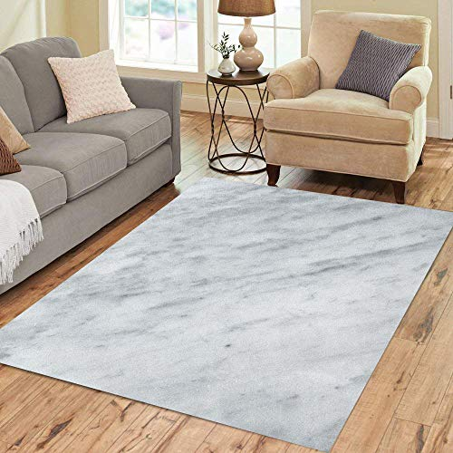 Semtomn Area Rug 5' X 7' Gray Abstract Natural Marble Raw Antique Architecture Carrara Construction Home Decor Collection Floor Rugs Carpet for Living Room Bedroom Dining ()