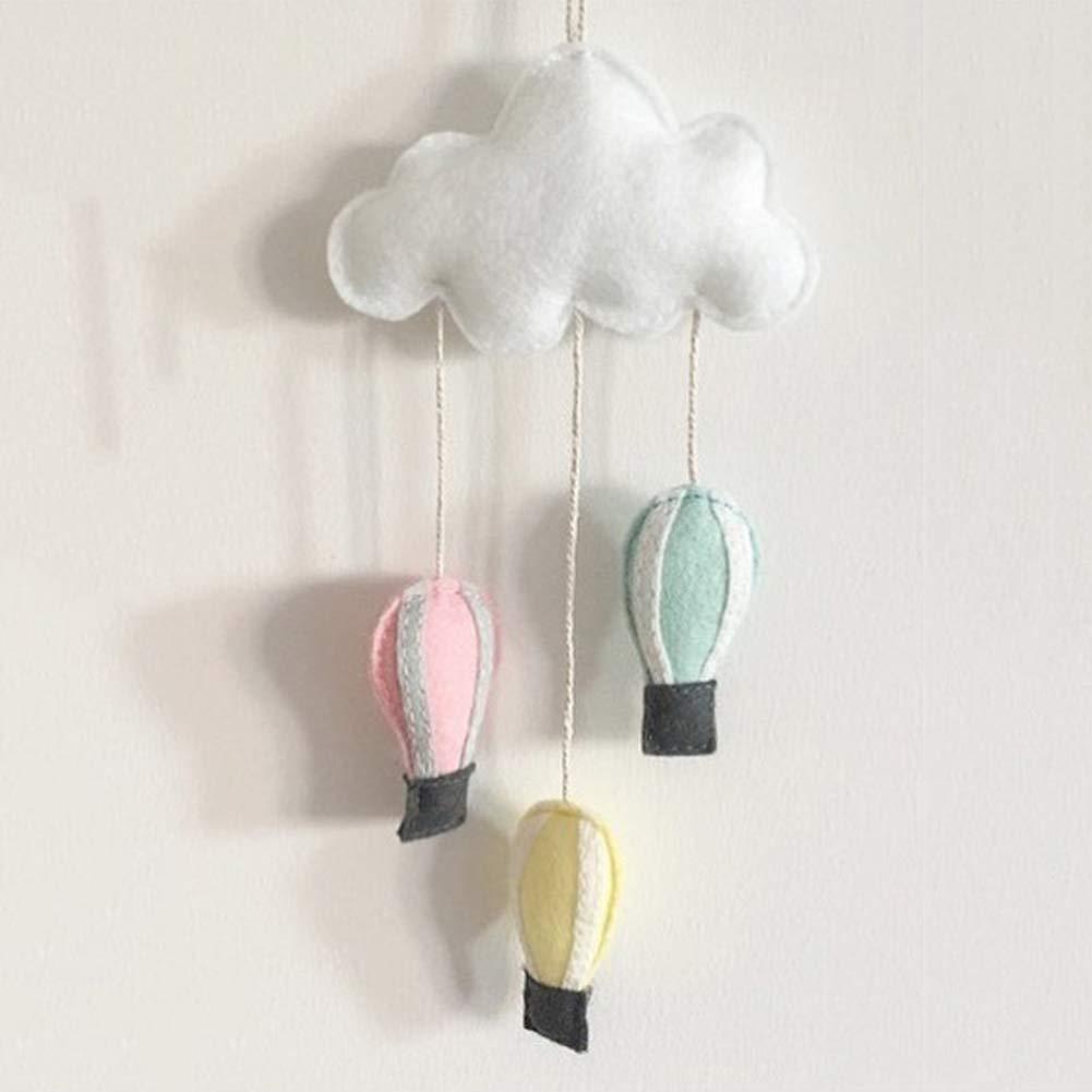 #5 SpirWoRchlan Kinderzimmer Dekoration Wolken Regentropfen H/ängende Deko Babyparty Baby Geburtstage