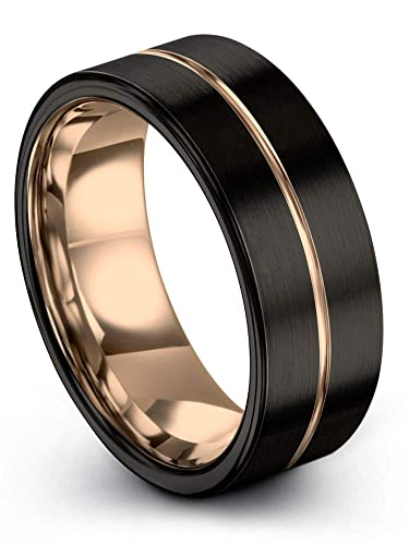 007c549d37934 Midnight Rose Collection Tungsten Wedding Band Ring 9mm for Men ...