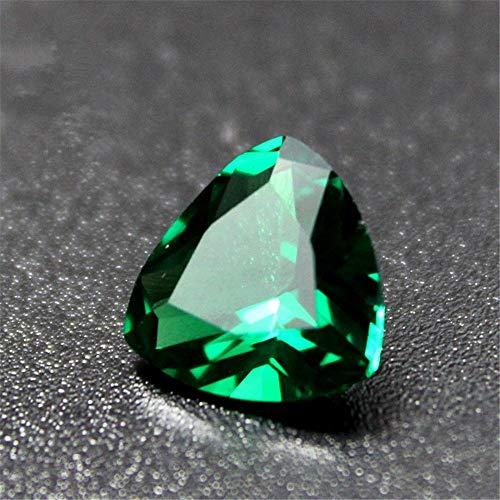Pear Cut Faceted (Emerald Pear Shaped Faceted Gemstone Teardrop Cut Emerald Gem Tsavorite Color Emerald Multiple Sizes to Choose C36E)