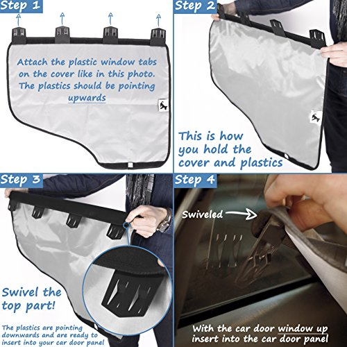 pet car door cover for dogs set of 2 interior protector and guard for vehicle back door by. Black Bedroom Furniture Sets. Home Design Ideas