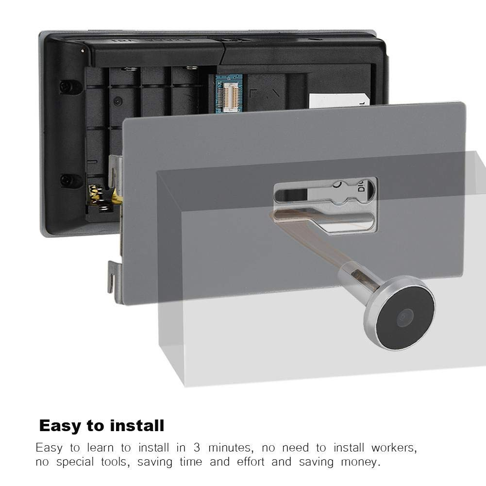 DGTRHTED Sistema de c/ámara de Seguridad 3.5Visor de Puerta de 120 Grados Mirilla Digital LCD Smart Home Monitoring C/ámara Cat Eye