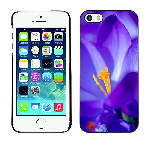 Premio Sottile Slim Cassa Custodia Case Cover Shell // F00027931 Ultrablue fleur // Apple iPhone 5 5S 5G