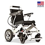 New Model 2019 Fold & Travel Lightweight Electric Wheelchair Motor Motorized Wheelchairs Electric Silla De Ruedas Power Wheelchair Power Scooter Aviation Travel Safe Heavy Duty Mobility Aids Chair