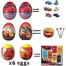 Preziosi 6 Disney Cars Surprise Plastic Eggs Surprise PER Egg