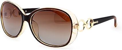 VeBrellen - Gafas de sol polarizadas para mujer, diseño retro, montura cuadrada