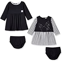 Silly Apples Baby Girl 2-Piece Long-Sleeve Dress Set