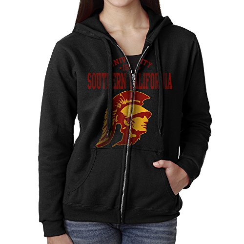 Southern California Hoodie - USC Trojans University Of Southern California Women Pocket Zip Up Drawstring Hoodie