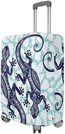 My Daily Gecko Lizard Luggage Cover Fits 29-32 Inch Suitcase Spandex Travel Protector XL
