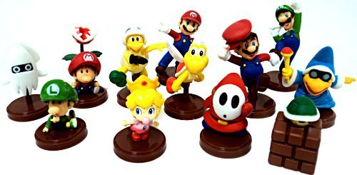 (Furuta Super Mario Collection Series 3 Set of 13 Mini 2 Inch PVC Figures Includes Luigi Variant Mario!)