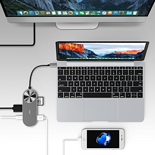 VAVA USB C Hub Adapter with 100W Power Delivery, DC in Port, SD Card Reader, HDMI Port, 2 USB 3.0 Ports for MacBook Pro and Type C Windows Laptops by VAVA (Image #5)