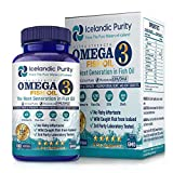 Omega 3 Fish Oil Dietary Supplements for Maximum Heart, joint and Brain Health (180 Soft-gels) For Sale