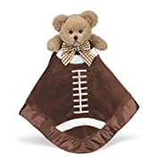 Bearington Baby Touchdown Snuggler, Football Plush Stuffed Animal Teddy Bear Security Blanket, Lovey 15