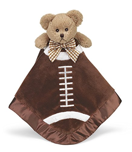 (Bearington Baby Touchdown Snuggler, Football Plush Stuffed Animal Teddy Bear Security Blanket, Lovey 15