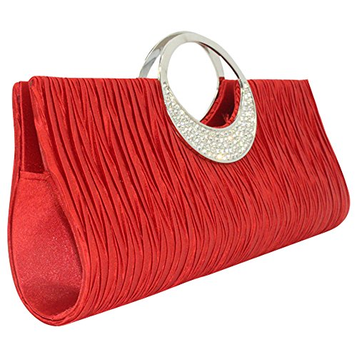 Wonderful Glittery Ladies Red Bag Silver Clutch Formal Diamante Black Evening Handbag Wedding wocharm UaSqC6xaw