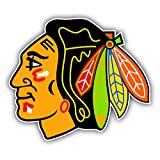 Chicago Blackhawks NHL Hockey Head Logo Vinyl Sticker 5 X 4 inches