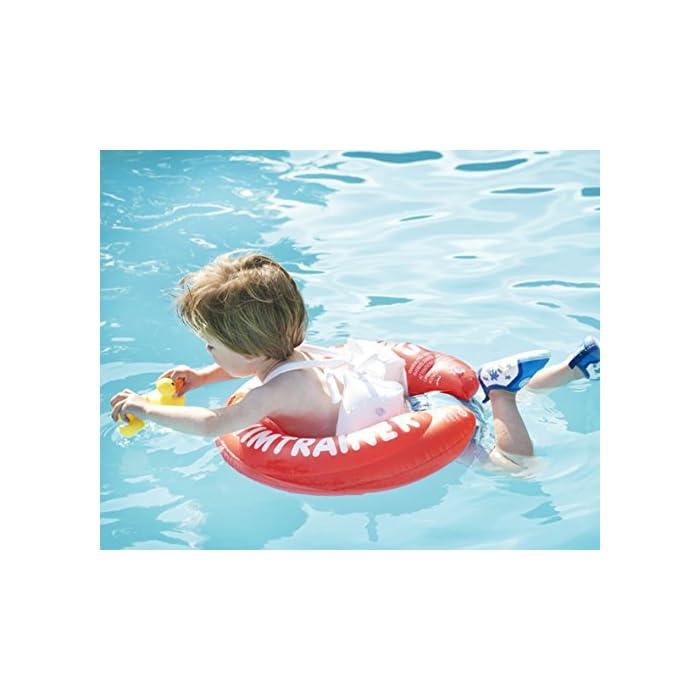 51DqXlg4JpL Fabricado en un fuerte PVC Ofrece una posición ideal en el agua Las almohadillas (blocs) inflables evitan resbalones o deslizamientos