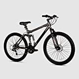 Bike Mountain Bicycle Tire Dual-Suspension Disc Brake Rugged Aluminum 4-Bar Cardio Burn Fat Gray 21-Speed 27.5'' - Skroutz
