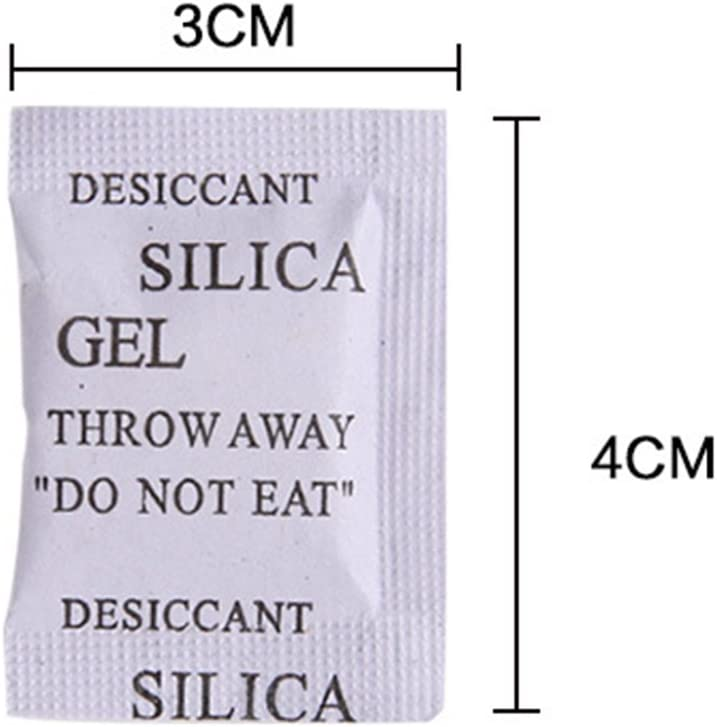 cibo 3*4cm bianco assorbenti umidit/à e odori di muffa 200 bustine essiccanti in gel di silice per armadi Sacchetti in gel di silice credenze