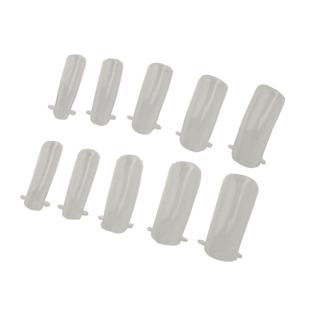 Amazon.com: 100pcs Dual Nail System Form for Uv Acrylic Nail Art Tip ...