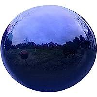 Plow & Hearth 52610-BL Stainless Steel Gazing Ball, IIndigo Blue