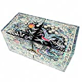 Mother of Pearl Turtle & Crane Design Jewelry Box Display Nacre Jewellry Case