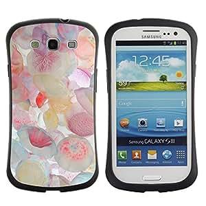 LASTONE PHONE CASE / Suave Silicona Caso Carcasa de Caucho Funda para Samsung Galaxy S3 I9300 / Jellyfish Pastel Colors Sea