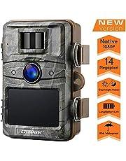 """Campark Wildkamera 14MP 1080P No Glow Night Vision Überwachungskamera Jagdkamera Sicherheit Bewegungsaktivierte Kamera mit 2.4""""LCD und IP66 Wasserdich"""