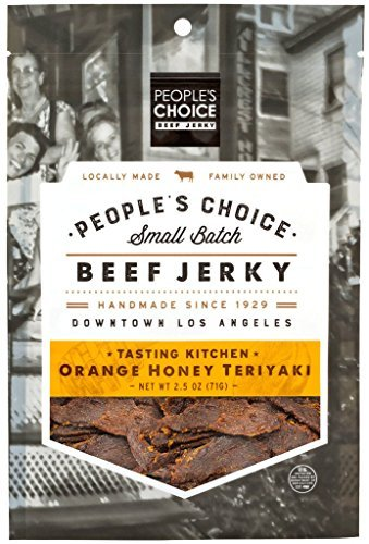 - People's Choice Beef Jerky - Tasting Kitchen - Orange Honey Teriyaki - Gourmet Handmade Craft Meat Snack - 2.5 Ounce Bag (Pack of 3)