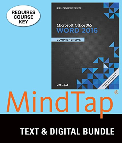 Bundle: Shelly Cashman Series Microsoft Office 365 & Word 2016: Comprehensive + MindTap Computing, 2 terms (12 month