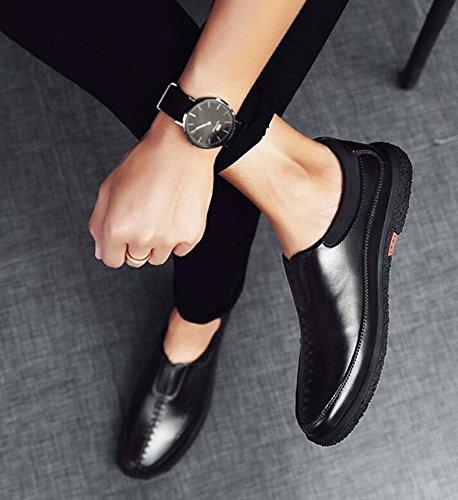 Casuales Moda Salvajes Trabajo Tamaño Zapatos Color del Negro Estilo Hombres Zapatos los Nuevo de Respirables Verano 43 FE8zxqw0