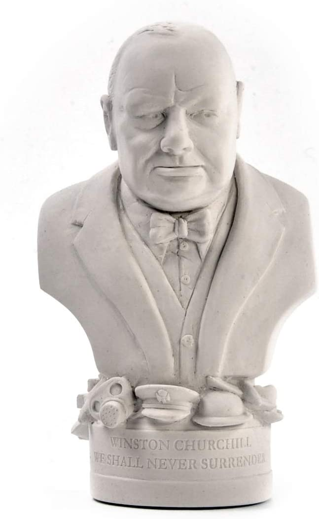 Modern Souvenir Co Winston Churchill Statuette Famous Faces Collection Plaster Bust