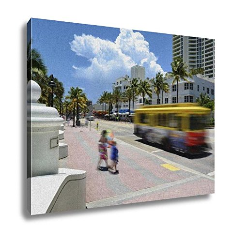 Ashley Canvas, Fort Lauderdale Beach, Wall Art Home Decor, Ready to Hang, 16x20, - Las To Olas Directions